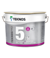 Teknos Pro 5%, 7% 10% Matt  wall paints with low side sheen