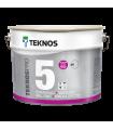 Teknos Pro 5%, 7% 10% Matt  wall paints with low side sheen