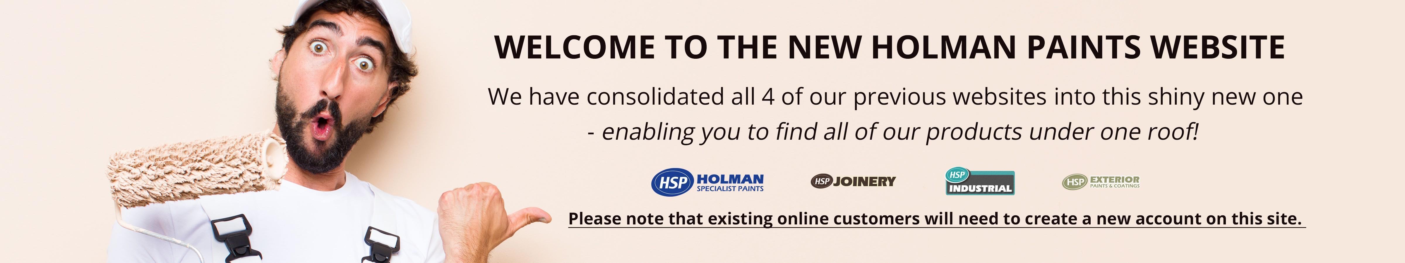 New Holman Paints Website
